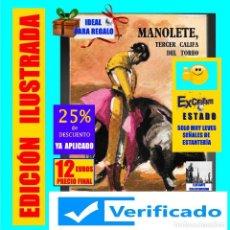 Tauromaquia: MANOLETE, TERCER CALIFA DEL TOREO - M. CONCOSTRINA - TOROS TOREROS TAUROMAQUIA ARTE DE CUCHARES. Lote 169443480