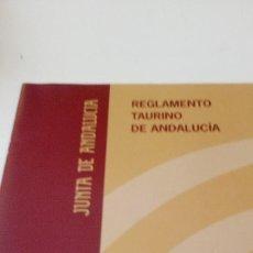 Tauromaquia: CAJ-B15FG REGLAMENTO TAURINO DE ANDALUCIA. Lote 169905757