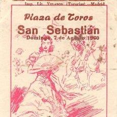 Tauromaquia: ENTRADA PLAZA DE TOROS DE SAN SEBASTIÁN- 7 AGOSTO 1960. Lote 170077488