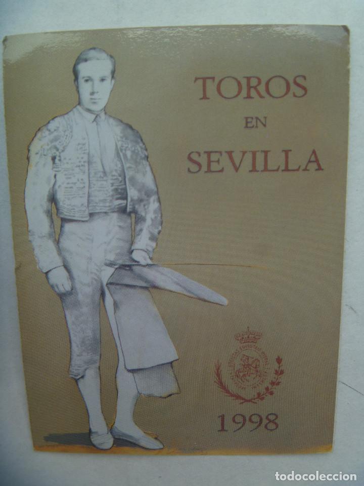 ENTRADA PLAZA DE TOROS DE SEVILLA ( REAL MAESTRANZA ) : ABONO TEMPORADA 1998 . TENDIDO. (Coleccionismo - Tauromaquia)