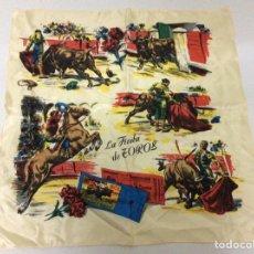 Tauromaquia: PAÑUELO CORRIDA DE TOROS AÑOS 60. Lote 171213634