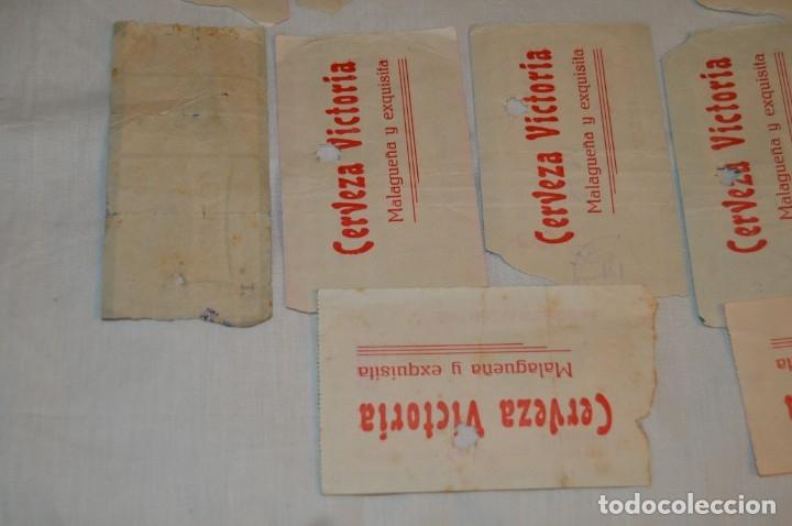 Tauromaquia: Lote de 14 entradas - Plaza de toros de Málaga - Antiguas año 1959 - En reverso publicidad Victoria - Foto 10 - 171452727
