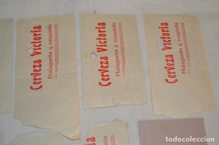 Tauromaquia: Lote de 14 entradas - Plaza de toros de Málaga - Antiguas año 1959 - En reverso publicidad Victoria - Foto 9 - 171452727