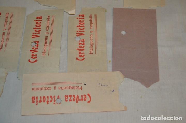 Tauromaquia: Lote de 14 entradas - Plaza de toros de Málaga - Antiguas año 1959 - En reverso publicidad Victoria - Foto 11 - 171452727