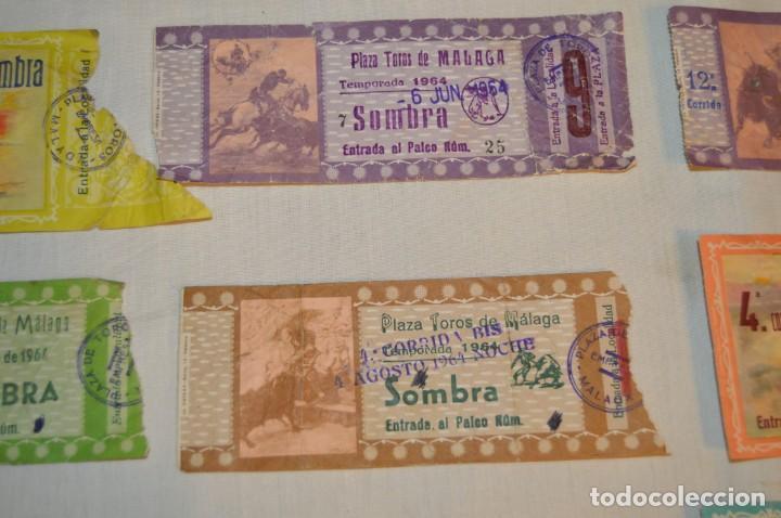 Tauromaquia: Lote de 23 entradas - Plaza toros Málaga - Antiguas año 1960/61/64/66 - Reverso publicidad Victoria - Foto 4 - 171454157