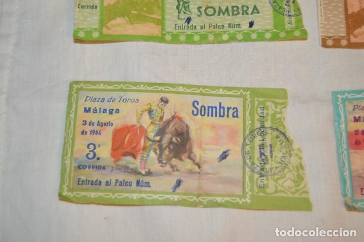 Tauromaquia: Lote de 23 entradas - Plaza toros Málaga - Antiguas año 1960/61/64/66 - Reverso publicidad Victoria - Foto 6 - 171454157