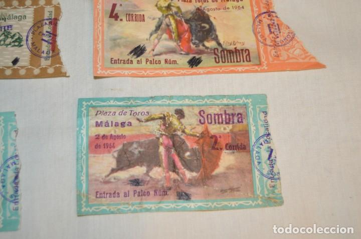 Tauromaquia: Lote de 23 entradas - Plaza toros Málaga - Antiguas año 1960/61/64/66 - Reverso publicidad Victoria - Foto 8 - 171454157