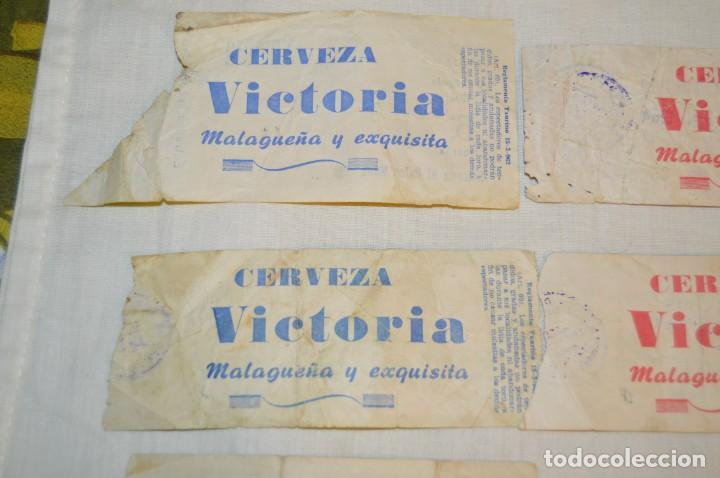 Tauromaquia: Lote de 23 entradas - Plaza toros Málaga - Antiguas año 1960/61/64/66 - Reverso publicidad Victoria - Foto 9 - 171454157