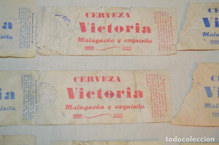 Tauromaquia: Lote de 23 entradas - Plaza toros Málaga - Antiguas año 1960/61/64/66 - Reverso publicidad Victoria - Foto 10 - 171454157
