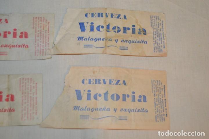 Tauromaquia: Lote de 23 entradas - Plaza toros Málaga - Antiguas año 1960/61/64/66 - Reverso publicidad Victoria - Foto 11 - 171454157