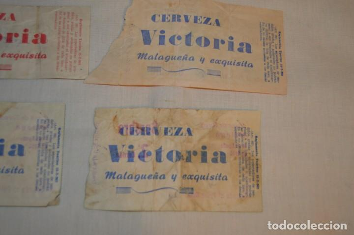 Tauromaquia: Lote de 23 entradas - Plaza toros Málaga - Antiguas año 1960/61/64/66 - Reverso publicidad Victoria - Foto 12 - 171454157