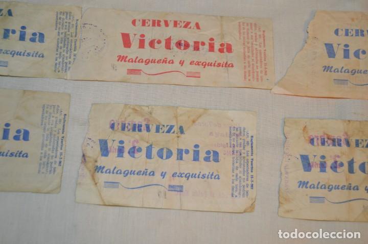 Tauromaquia: Lote de 23 entradas - Plaza toros Málaga - Antiguas año 1960/61/64/66 - Reverso publicidad Victoria - Foto 13 - 171454157