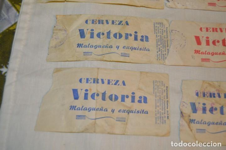 Tauromaquia: Lote de 23 entradas - Plaza toros Málaga - Antiguas año 1960/61/64/66 - Reverso publicidad Victoria - Foto 14 - 171454157