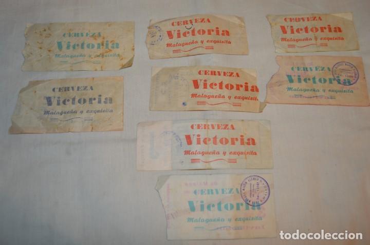 Tauromaquia: Lote de 23 entradas - Plaza toros Málaga - Antiguas año 1960/61/64/66 - Reverso publicidad Victoria - Foto 20 - 171454157