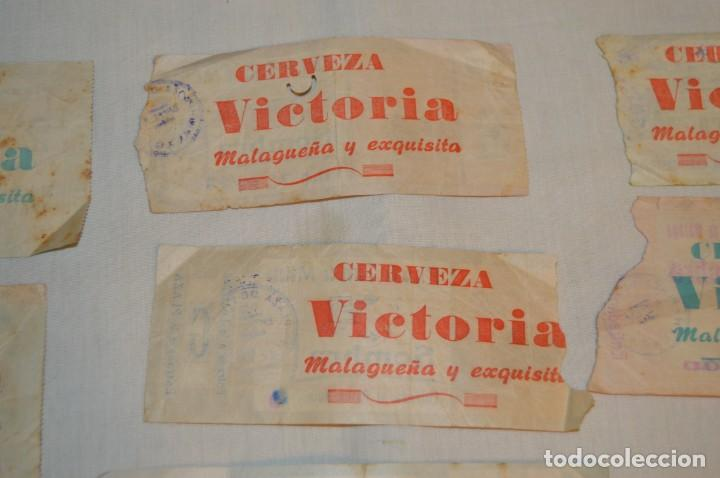 Tauromaquia: Lote de 23 entradas - Plaza toros Málaga - Antiguas año 1960/61/64/66 - Reverso publicidad Victoria - Foto 22 - 171454157