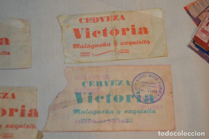 Tauromaquia: Lote de 23 entradas - Plaza toros Málaga - Antiguas año 1960/61/64/66 - Reverso publicidad Victoria - Foto 23 - 171454157