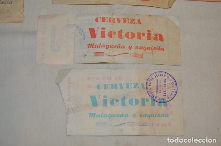 Tauromaquia: Lote de 23 entradas - Plaza toros Málaga - Antiguas año 1960/61/64/66 - Reverso publicidad Victoria - Foto 24 - 171454157