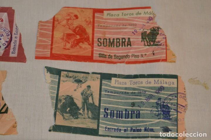 Tauromaquia: Lote de 23 entradas - Plaza toros Málaga - Antiguas año 1960/61/64/66 - Reverso publicidad Victoria - Foto 27 - 171454157