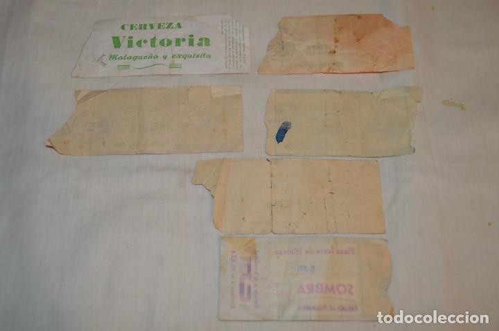Tauromaquia: Lote de 23 entradas - Plaza toros Málaga - Antiguas año 1960/61/64/66 - Reverso publicidad Victoria - Foto 29 - 171454157