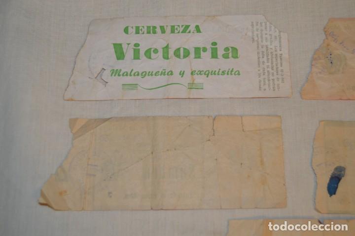 Tauromaquia: Lote de 23 entradas - Plaza toros Málaga - Antiguas año 1960/61/64/66 - Reverso publicidad Victoria - Foto 30 - 171454157