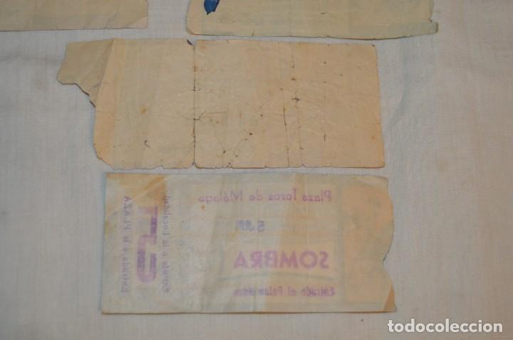 Tauromaquia: Lote de 23 entradas - Plaza toros Málaga - Antiguas año 1960/61/64/66 - Reverso publicidad Victoria - Foto 32 - 171454157
