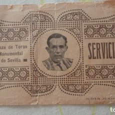Tauromaquia: ANTIGUA ENTRADA.PLAZA TOROS MONUMENTAL SEVILLA 1918-1921.. Lote 171712352