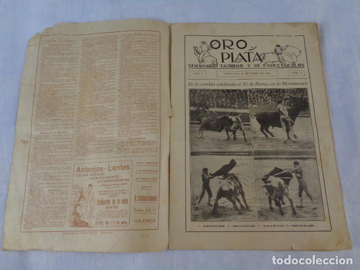 Tauromaquia: Revista de toros Oro y plata MARZO 1921 --- Numero 5 --- MANUEL GRANERO -- CHICUELO - SALERI - Foto 3 - 171977272