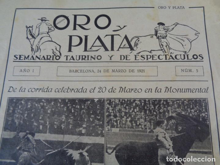 Tauromaquia: Revista de toros Oro y plata MARZO 1921 --- Numero 5 --- MANUEL GRANERO -- CHICUELO - SALERI - Foto 4 - 171977272