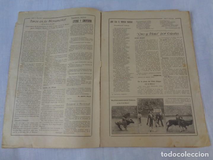 Tauromaquia: Revista de toros Oro y plata MARZO 1921 --- Numero 5 --- MANUEL GRANERO -- CHICUELO - SALERI - Foto 5 - 171977272