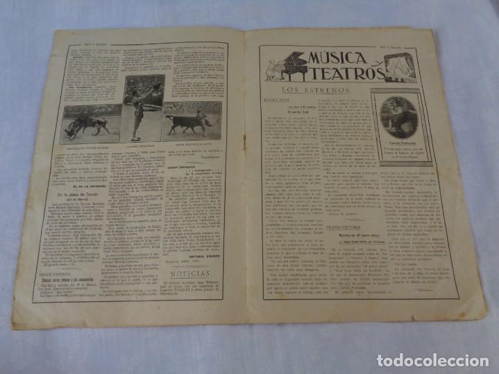 Tauromaquia: Revista de toros Oro y plata MARZO 1921 --- Numero 5 --- MANUEL GRANERO -- CHICUELO - SALERI - Foto 7 - 171977272