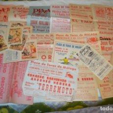 Tauromaquia: PLAZA DE TOROS DE MÁLAGA - AÑO 1959 - LOTE 02 CARTELES DE TOROS ORIGINALES Y OTROS DOCUMENTOS ¡MIRA!. Lote 172290064