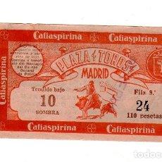 Tauromaquia: ENTRADA DE PLAZA DE TOROS. 1951. ALTERNATIVA DE ANTONIO ORDOÑES. VER FOTOS.. Lote 172457754