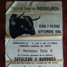 Tauromaquia: CARTEL DE TOROS EN SEDA DE CORRIDA EN POZOBLANCO. MUERTE PAQUIRRI.. Lote 172598919