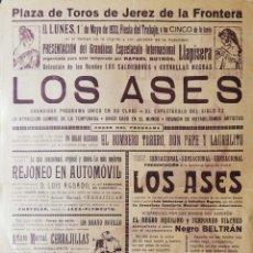 Tauromaquia: PLAZA TOROS DE JEREZ. 1933. ESPECTACULO COMICO-TAURINO. EL BOMBERO TORERO, D. PEPE Y LAURELITO. LEER. Lote 172732884