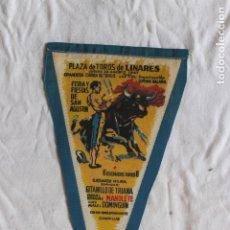 Tauromaquia: BANDERIN PLAZA DE TOROS DE LINARES, MUERTE DE MANOLETE . Lote 173549792