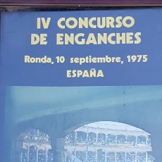 Tauromaquia: CARTEL CUADRO POSTER CONCURSO DE ENGANCHES. PLAZA TOROS DE RONDA AÑO 1975. Lote 174013425