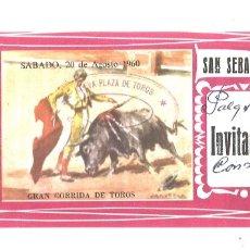 Tauromaquia: ENTRADA PLAZA DE TOROS DE SAN SEBASTIÁN. AGOSTO 1960. Lote 174500612