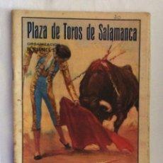 Tauromaquia: PROGRAMA DE TOROS DE MANO DE SALAMANCA. SALAMANCA. FERIAS 1950.. Lote 175068688