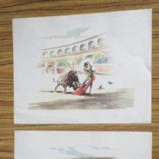 Tauromaquia: 2 LAMINAS ANTIGUAS DE TAUROMAQUIA . Lote 176214735
