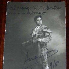 Tauromaquia: FOTO POSTAL DEL TORERO AUGUSTO, CON AUTOGRAFO EN 1915, VICENZA, FOTO S. LORENZO, NO CIRCULADA.. Lote 176233053