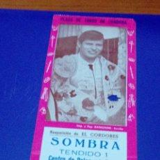 Tauromaquia: ENTRADA DE TOROS. PLAZA DE TOROS DE CORDOBA. REAPARACIÓN DE EL CORDOBE. C8CR. Lote 176399100