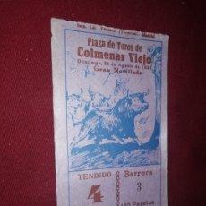 Tauromaquia: COLMENAR VIEJO 1958. ENTRADA DE TOROS. Lote 176516019