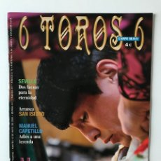Tauromaquia: REVISTA 6 TOROS 6 Nº 776. MANZANARES, EL PRÍNCIPE DE LA MAESTRANZA. Lote 176647422