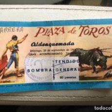 Tauromaquia: ENTRADA DE TOROS ALDEAQUEMADA JAÉN, 1968. Lote 177048464