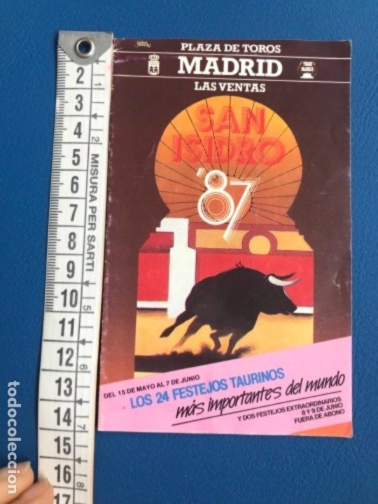 Tauromaquia: Corridas san isidro 1987 programa completo abono las ventas precios todas festejos y toreros - Foto 6 - 177196687