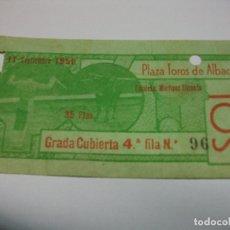 Tauromaquia: 1956 ENTRADA DE TOROS DE ALBACETE 11 SEPTIEMBRE. Lote 177367035