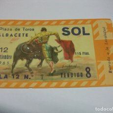 Tauromaquia: 1965 ENTRADA DE TOROS DE ALBACETE 12 SEPTIEMBRE. Lote 177367824