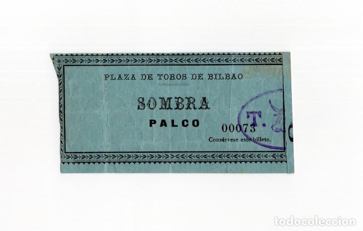 BILBAO.- PLAZA DE TOROS. ENTRADA AGOSTO 1902. (Coleccionismo - Tauromaquia)