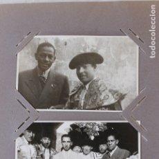 Tauromaquia: DOS FOTOGRAFIAS TOREROS Y ANTONIO MACHIN, AÑOS 40-50. Lote 178372670