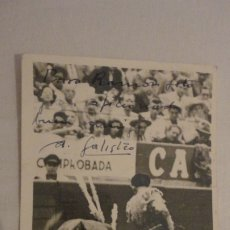 Tauromaquia: ANTIGUA FOTOGRAFIA.TORERO ANTONIO GALISTEO.FOTO REYNOSO.MEXICO 1951. DEDICADA Y FIRMADA. Lote 178388913